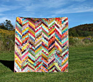 Scrappy Herringbone Quilt Tutorial