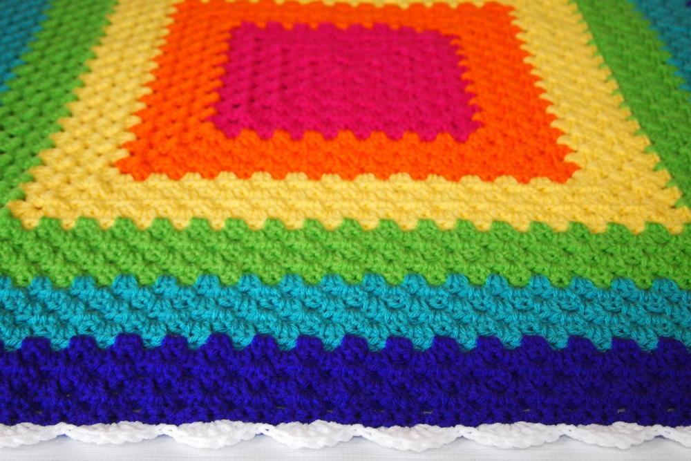 Crochet The Rainbow Granny Square Throw Allfreecrochet Com