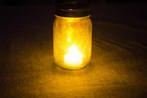 Glittery Mason Jar Light