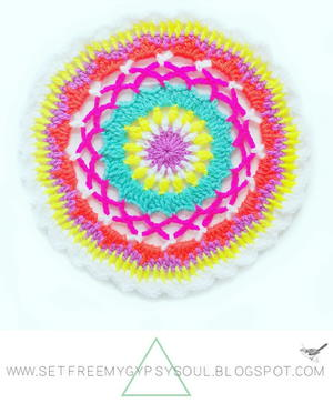 Bright Colourful Rainbow Mae Mandala