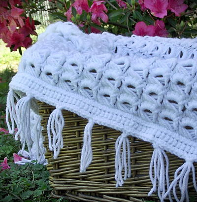 Sweet Broomstick Lace Blanket
