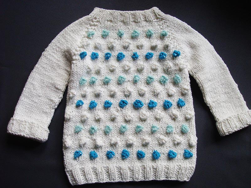 Seamless Bobble Stitch Baby Sweater Allfreeknitting Com