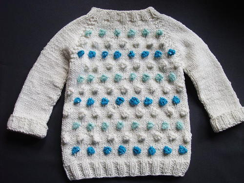 Seamless Bobble Stitch Baby Sweater