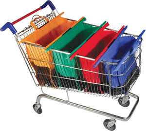 Grocery Store Trolley Cart Bags Giveaway