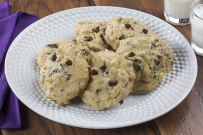 Lighter Chocolate Chip Cookies