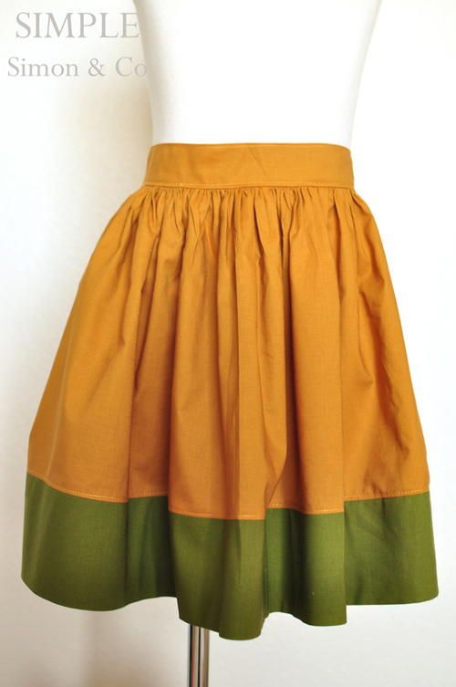 Vintage Colorblock Skirt Tutorial