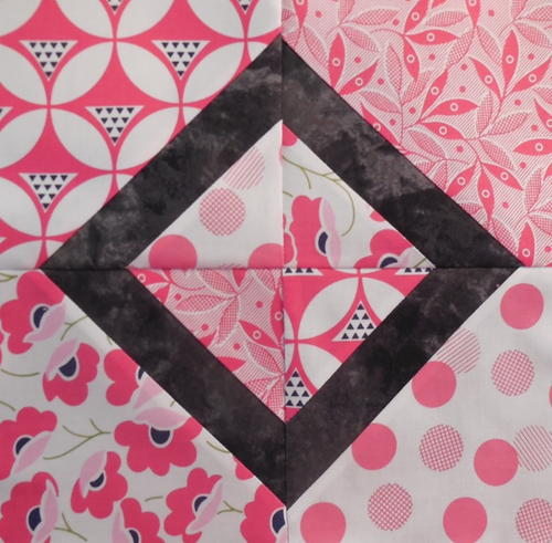 Pink Diamond Quilt Block