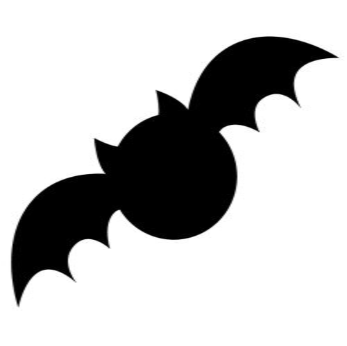 Spooky Bat Applique Template