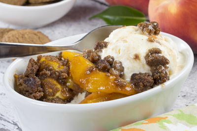 Gingered Peach Crisp