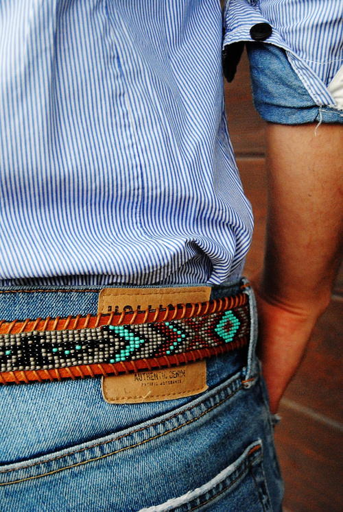 American Indian-Inspired Beaded Belt