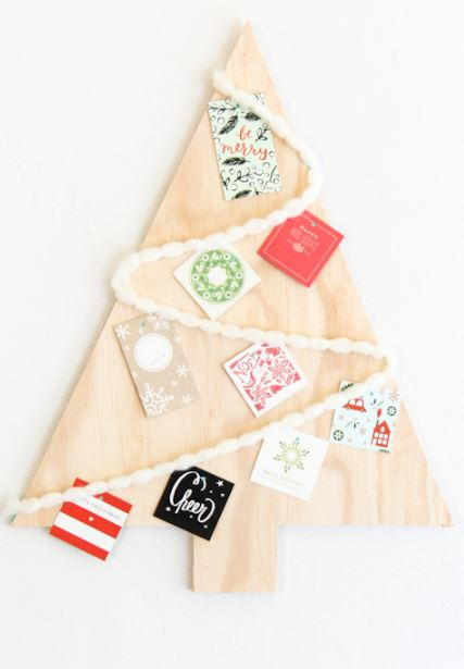 DIY Christmas Tree Card Display