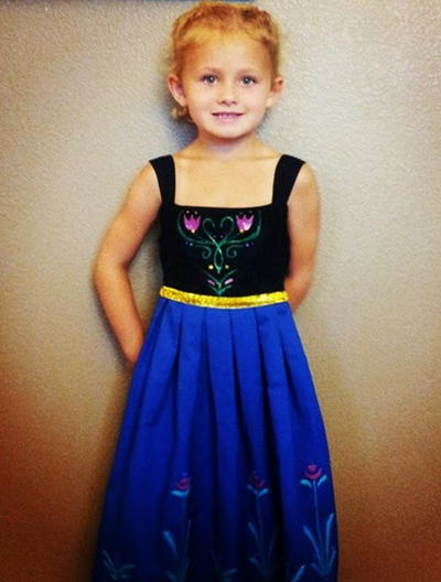 Princess Anna Dress Tutorial