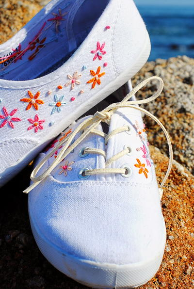 Darling Daisy Embroidered Shoes