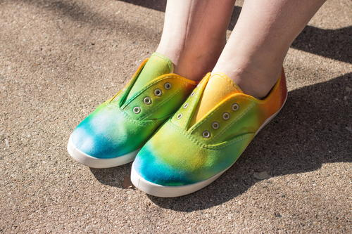 Rainbow Tie Dye Shoes