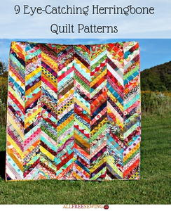9 Eye-Catching Herringbone Quilt Patterns
