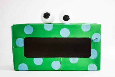 Tissue Box Monster Recycled Craft