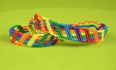 Colorful Rainbow DIY Friendship Bracelet