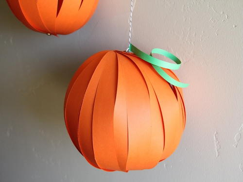 Halloween Pumpkin DIY Paper Lanterns