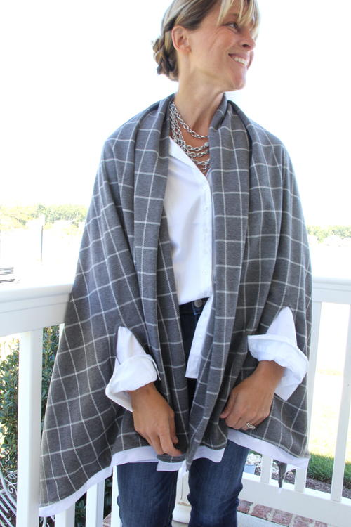 Fall Wool Cape Scarf