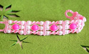 Pretty Princess Beaded Macrame Bracelet