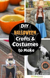17 DIY Halloween Crafts and Halloween Costumes to Make