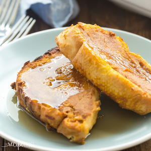 Baked Overnight Pumpkin French Toast