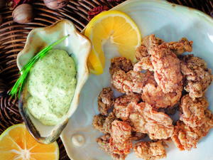 Pecan-Crusted Oysters with Meyer Lemon Aioli