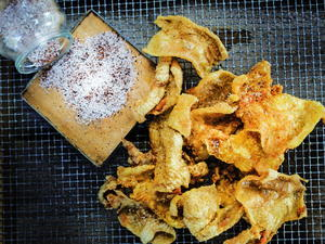 Chicken Skins with Spicy Sea Salt