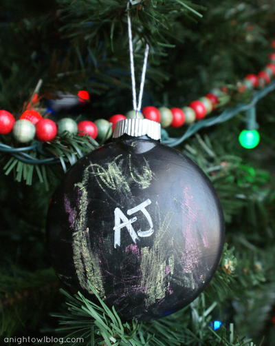 Playful Holiday Chalkboard Ornament