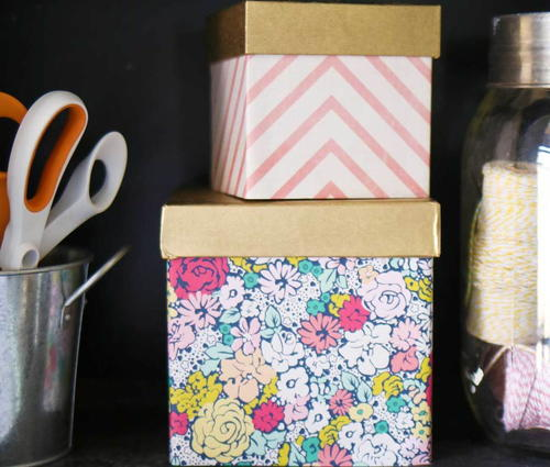 Decorative DIY Storage Boxes