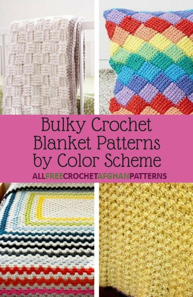 14 Bulky Crochet Blanket Patterns by Color Scheme