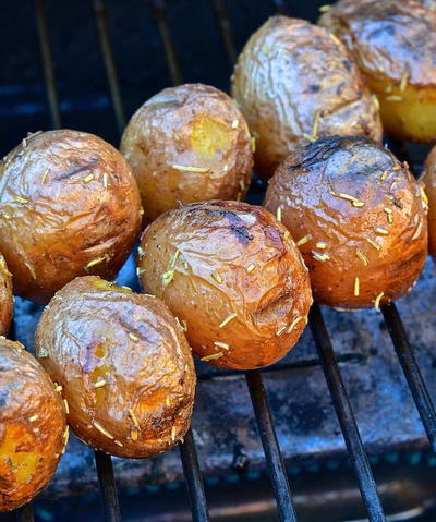 Grilled Baby Potatoes with Rosemary