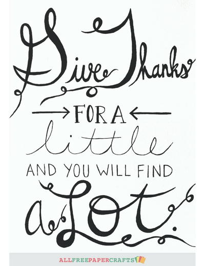 Giving Thanks Free Printables