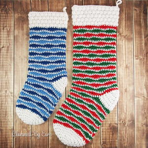 Holly Jolly Holiday Crochet Stocking
