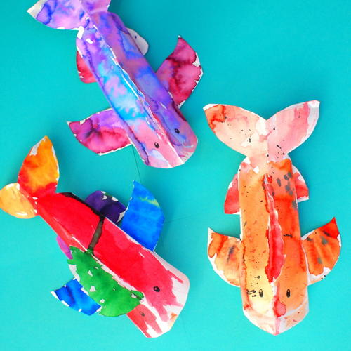Colorful 3D Paper Plate Fish Craft