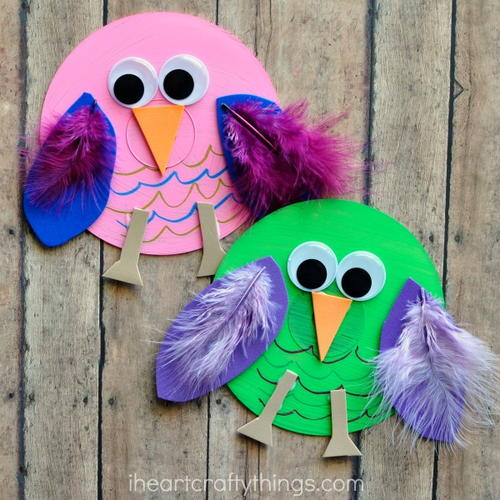 Old CD Owl Craft for Kids