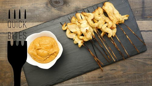 Chicken Satay Skewers with Peanut Sauce