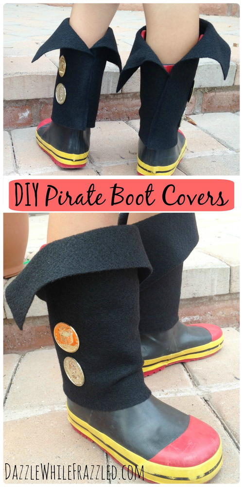 Easy DIY Kid Pirate Boot Covers