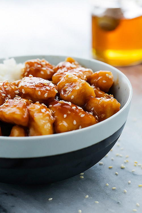 Easy Slow Cooker Honey Sesame Chicken