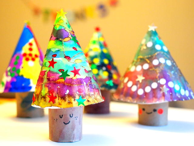 christmas craft ideas kids 3d tree crafts for allfreechristmascrafts 3579