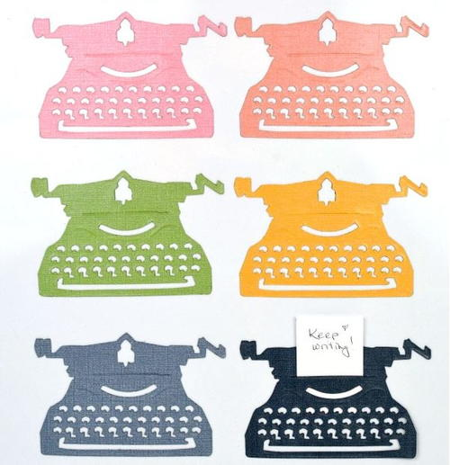 Typewriter Magnet Paper Crafts