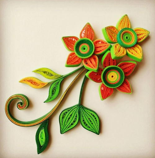 """Can't Stop Staring"" Tightly Quilled Flowers"