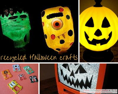 find scary and spooky recycled halloween crafts that you can use to add a touch of creepy to the house whether you want to create decorative halloween