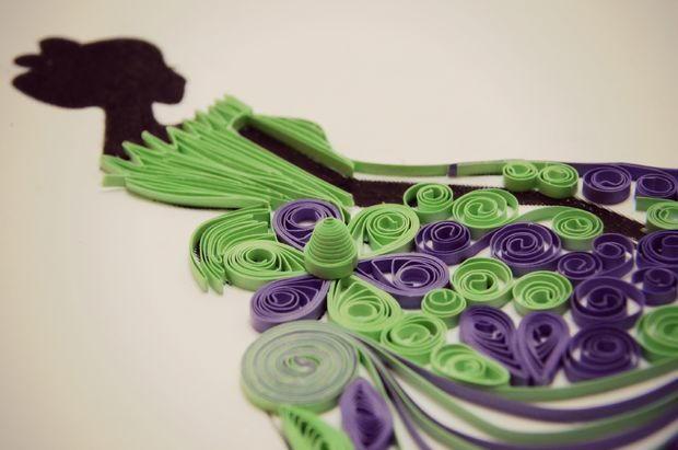 Princess Paper Quilling Design | AllFreePaperCrafts.com