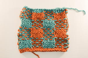 How to Knit the Woven Plaid Stitch