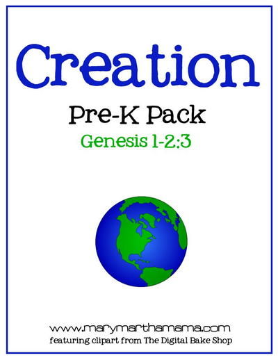 Creation Preschool Printables