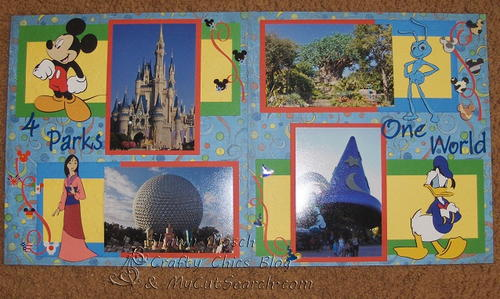 Four Parks, One World Scrapbook Layout