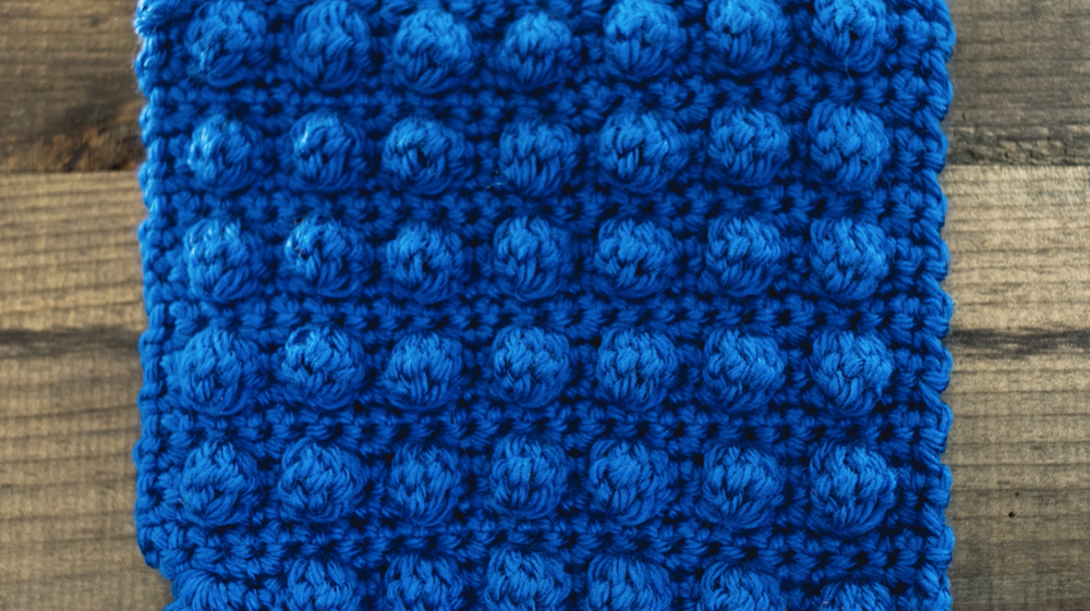 How To Crochet A Bobble Stitch Left Handed Tutorial