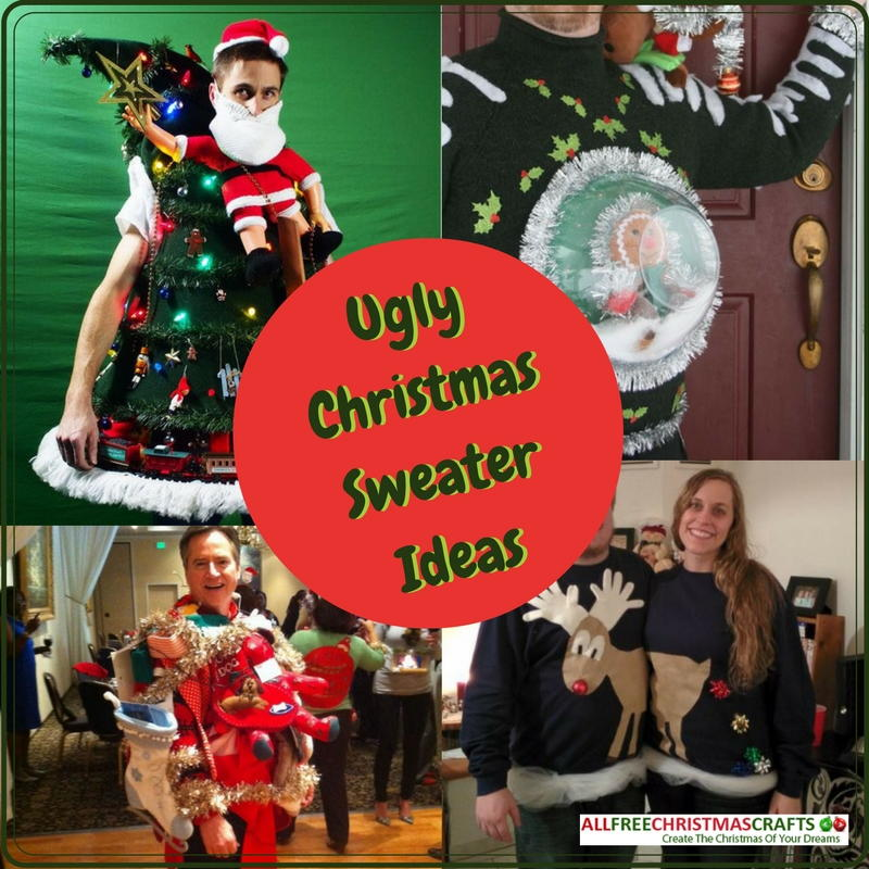 Handmade christmas decorations to sell - How To Make An Ugly Sweater 5 Ugly Christmas Sweater