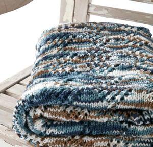 Seascape Lace Knit Blanket Pattern AllFreeKnitting.com